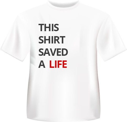 Save a life T shirt
